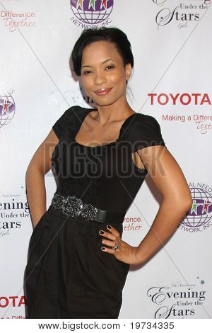 LOS ANGELES - OCT 10:  Karrine Steffans-McCrary arrives  at the Evening Under Stars 2010 at Ebell of Los Angeles on October 10, 2010 in Los Angeles, CA