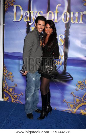 LOS ANGELES - NOV 6:  Brandon Beemer, Nadia Bjorlin arrives at the Days of Our Lives 45th Anniversary Party at House of Blues on November 6, 2010 in West Hollywood, CA