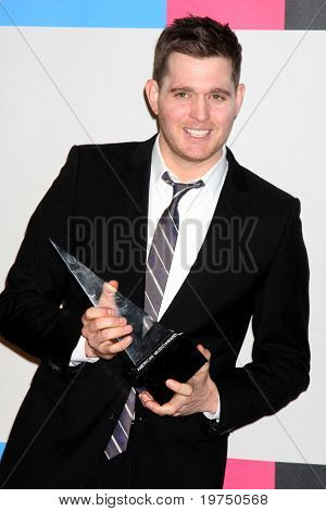 LOS ANGELES - NOV 21:  Michael Buble in the Press Room of the 2010 American Music Awards at Nokia Theater on November 21, 2010 in Los Angeles, CA