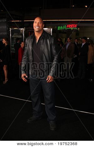 "LOS ANGELES - NOV 22:  Dwayne Johnson, aka ""The Rock"" arrives at the ""Faster"" LA Premiere at Grauman's Chinese Theater on November 22, 2010 in Los Angeles, CA"