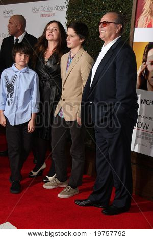 LOS ANGELES - DEC 13:  Jennifer Nicholson & Children, with dad Jack Nicholson at Heather Tom's Annual Christmas Party 2010 at Village Theater on December 13, 2010 in Westwood, CA.