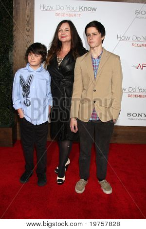 LOS ANGELES - DEC 13:  Jennifer Nicholson & Children at Heather Tom's Annual Christmas Party 2010 at Village Theater on December 13, 2010 in Westwood, CA.