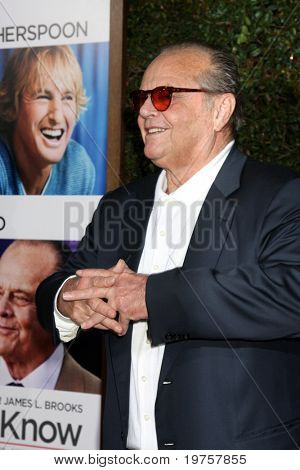 LOS ANGELES - DEC 13:  Jack Nicholson at Heather Tom's Annual Christmas Party 2010 at Village Theater on December 13, 2010 in Westwood, CA.