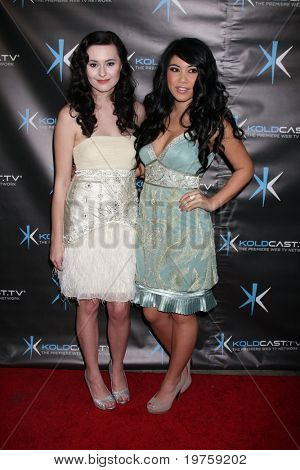 """LOS ANGELES - DEC 14:  Jillian Clare, Bianca Magick attend the """"Miss Behave"""" Season Two Premiere Party at Flappers Comedy Club on December 14, 2010 in Burbank, CA."""