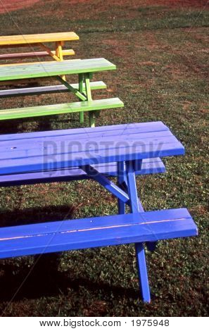 Colorful Picnic Tables 02 Wc Copy