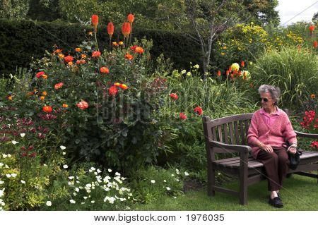 Lady Among Flowers