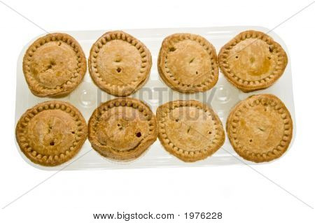 A Plastic Tray Of Pork Pies