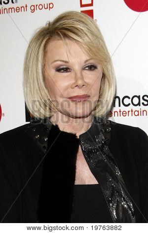 LOS ANGELES - JAN 5:  Joan Rivers arrives at the Comcast Entertainment Group Television Critics Association Cocktail Reception at Langham Hotel on January 5, 2011 in Los Angeles, CA