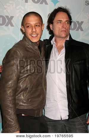 PASADENA, CA - JAN. 11: Theo Rossi and Kim Coates arrive at the FOX TCA Winter 2011 Party at Villa Sorriso on January 11, 2011 in Pasadena, CA