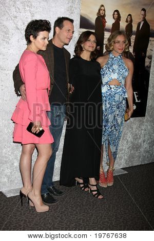 LOS ANGELES-JAN 12: Ginnifer Goodwin, Bill Paxton, Jeanne Tripplehorn, Chloe Sevigny arrive at the