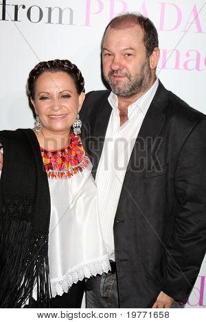 LOS ANGELES - JAN 18:  Adriana Barraza & husband arrives at