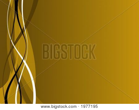 Gold And Black Waves