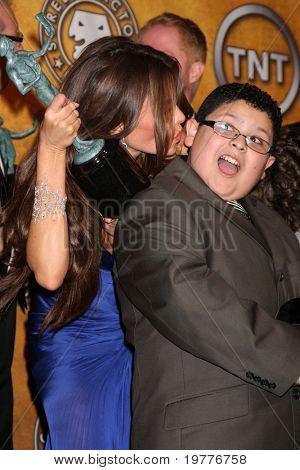 LOS ANGELES - JAN 30:  Sofia Vergara, Rico Rodriguez in the Press Room at the 2011 Screen Actors Guild Awards  at Shrine Auditorium on January 30, 2011 in Los Angeles, CA