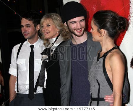 "LOS ANGELES - FEB 1: Scott Mechlowicz, Blythe Danner, Tom Sturridge, Rachel Bilson arrives at the ""Waiting For Forever"" Premiere at Pacific Theaters at The Grove on February 1, 2011 in Los Angeles, CA"