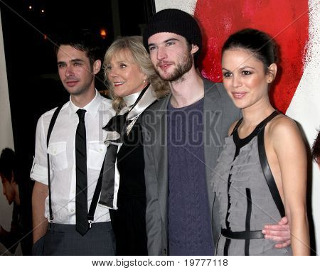 LOS ANGELES - FEB 1: Scott Mechlowicz, Blythe Danner, Tom Sturridge, Rachel Bilson arrives at the