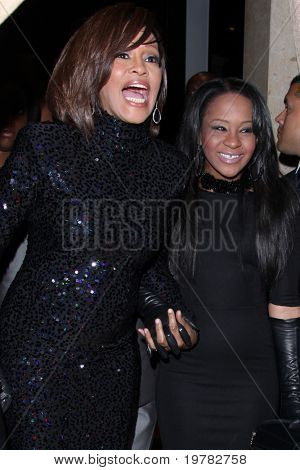 LOS ANGELES - FEB 12:  Whitney Houston; Bobbi Kristina Brown arrives at the 2011 Pre-GRAMMY Gala And Salute To Industry Icons  at Beverly Hilton Hotel on February 12, 2011 in Beverly Hills, CA