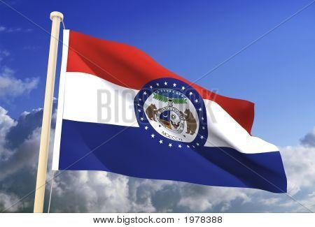 Missouri Flag (Clipping Path)