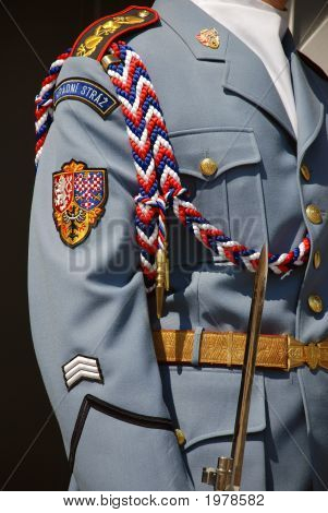 Detail Of Soldier Guarding The Prague Castle