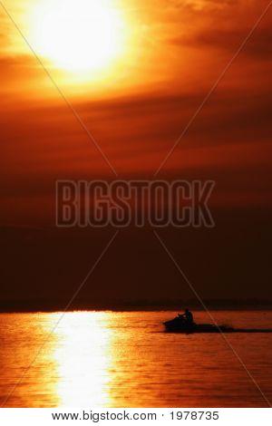 Sunsetting In Gulf