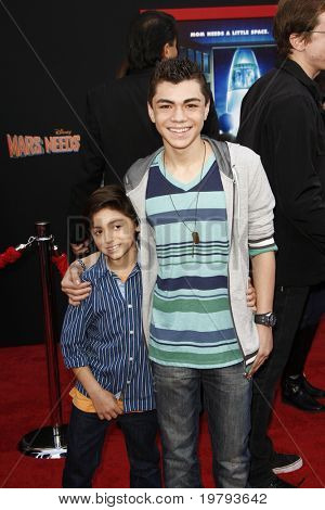 LOS ANGELES - MARCH 6: Jake Irigoyen, Adam Irigoyen arrives at the