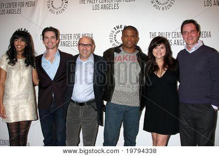 LOS ANGELES - MAR 7:  Marsha Thomason, Matt Bomer, Willie Garson, Sharif Atkins, Tiffani Thiessen. Tim DeKay arriving at the