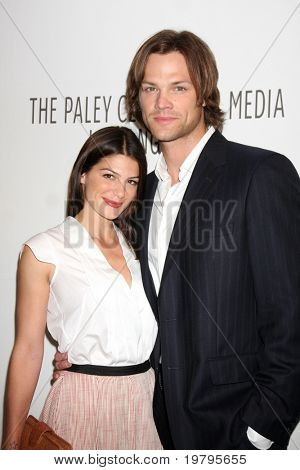 "LOS ANGELES - MAR 13:  Genevieve Cortese and Jared Padalecki arrive at the ""Supernatural"" PaleyFest 2011 at Saban Theatre on March 13, 2011 in Beverly Hills, CA"