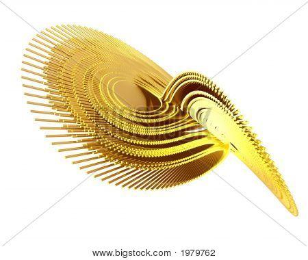 Optical Art Lorenz Golden Fractal Attractor Three