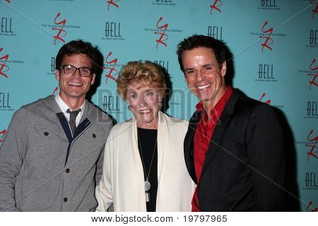 LOS ANGELES - MAR 18:  Greg Rikaart, Jeanne Cooper, Christian LeBlanc arriving at The Young & the Restless 38th AnnivParty at Avalon Hotel on March 18, 2011 in Beverly HIlls, CA