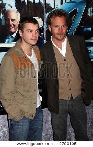 LOS ANGELES - MAR 22:  Emile Hirsch and Stephen Dorff arrives at the HBO's