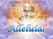 image of heavens gate  - Alleluia appearing in Heaven - JPG