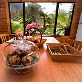 Kitchen Table With Muffins