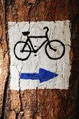 Symbol Of Touristic Route poster