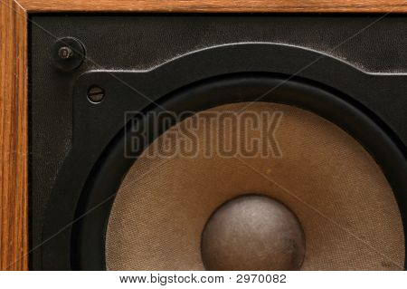 Close-Up Of A Loudspeaker.