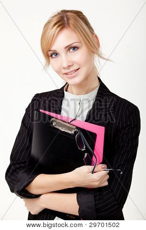 businesswoman with a folder