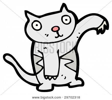 cute cartoon cat (raster version)