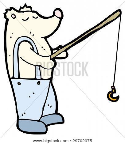 polar bear fishing cartoon (raster version)