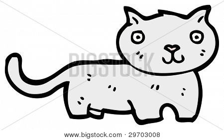 cute cartoon cat (raster version)