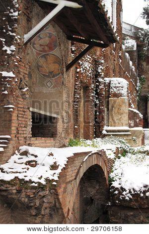 Ara Coeli House under snow