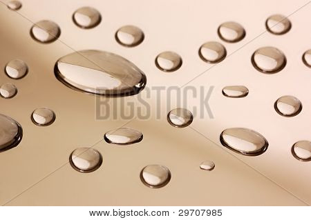 Transparent Droplets On The Mirror Surface