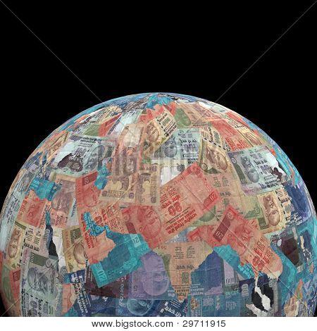 Earth Rupees sphere illustration