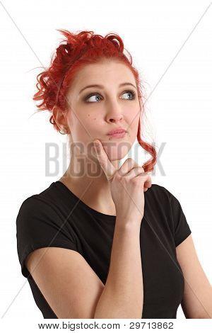 Pensamiento mujer pelirroja