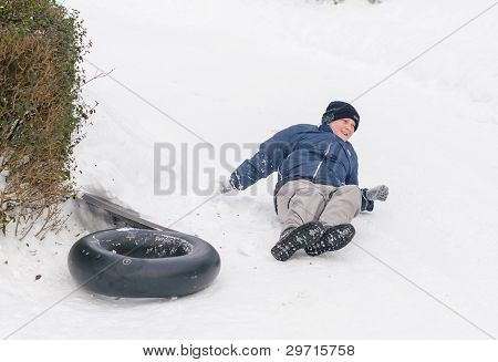 Snow game accident