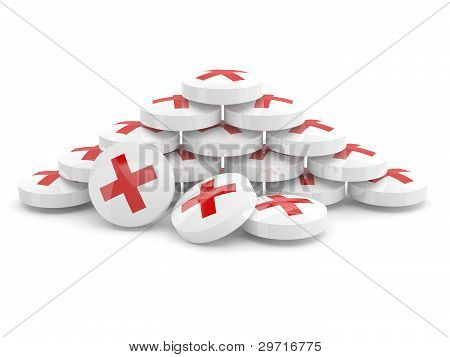 Drugs. 3D Model Of Tablets