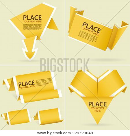 Collect Paper Origami Banner