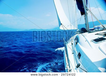 Travel .Luxury Yacht. Sailing