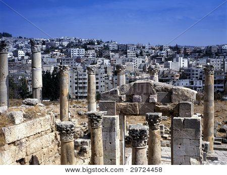 View At The Modern City Of Jerash, Jordan