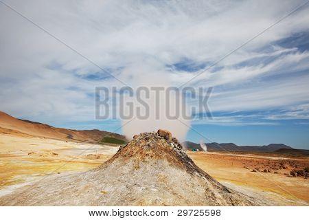 Fumarole field in Namafjall, Iceland