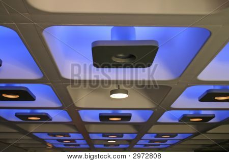 Blue Decorative Funky Coloured Indoor Ceiling Lights
