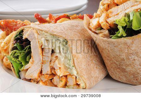 Chicken Wraps Close Up