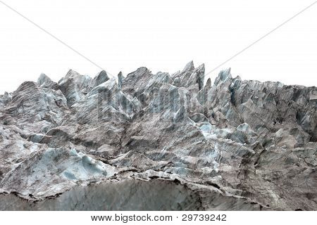 Icefall On White Background